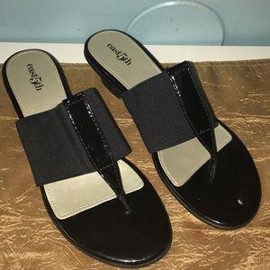 East 5th Black Sandals